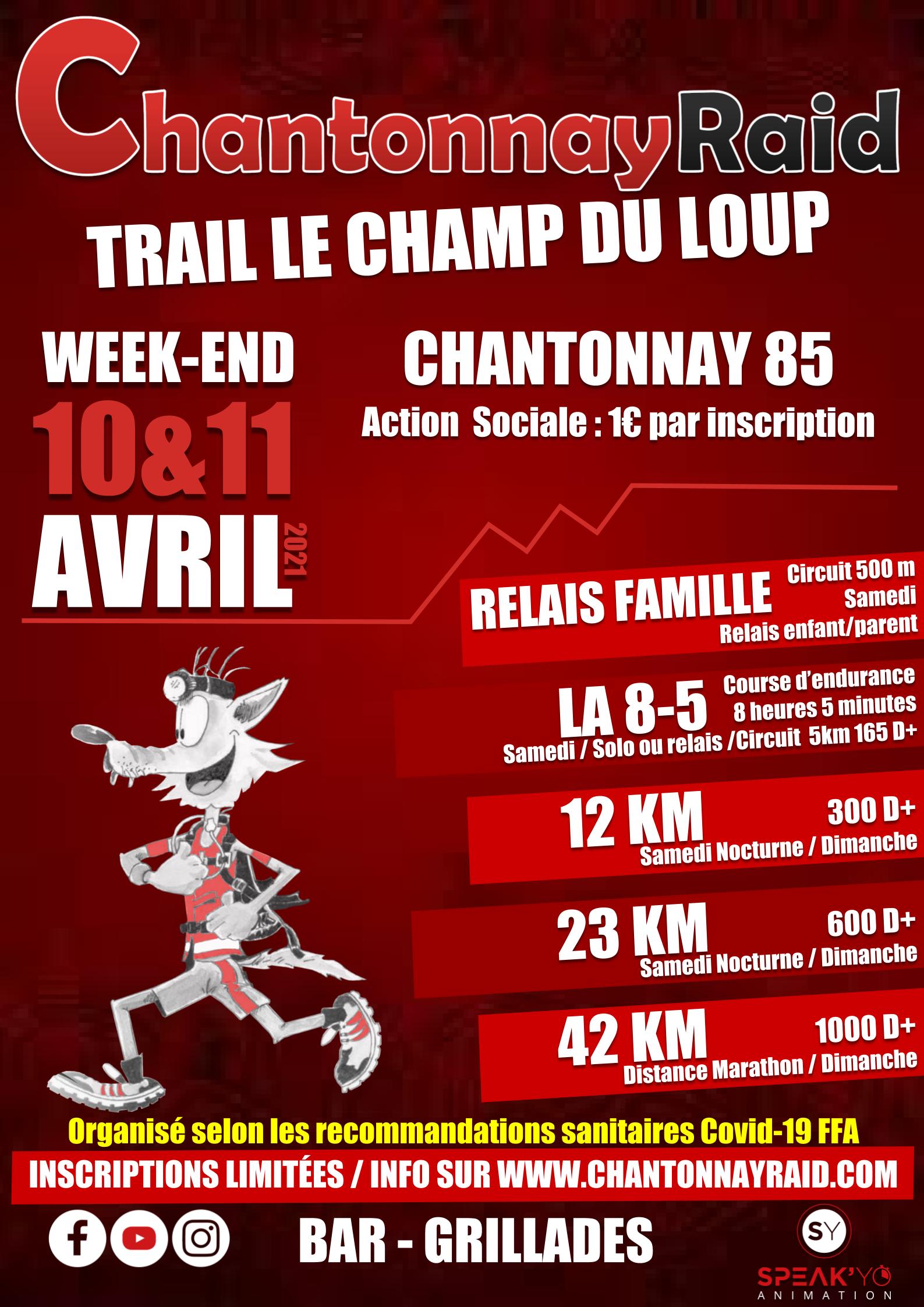 Affiche Trail Le Champ du Loup 2021